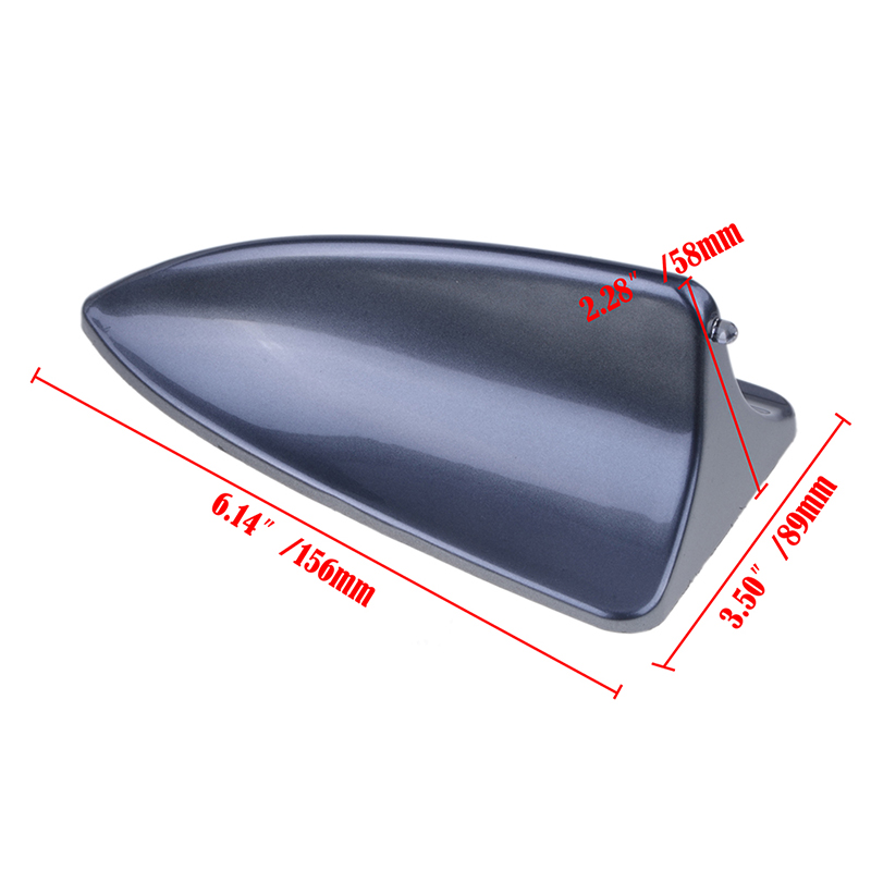 NEW Universal Gray Car Dummy Shark Fin Roof Mount Decorative Aerial Antenna