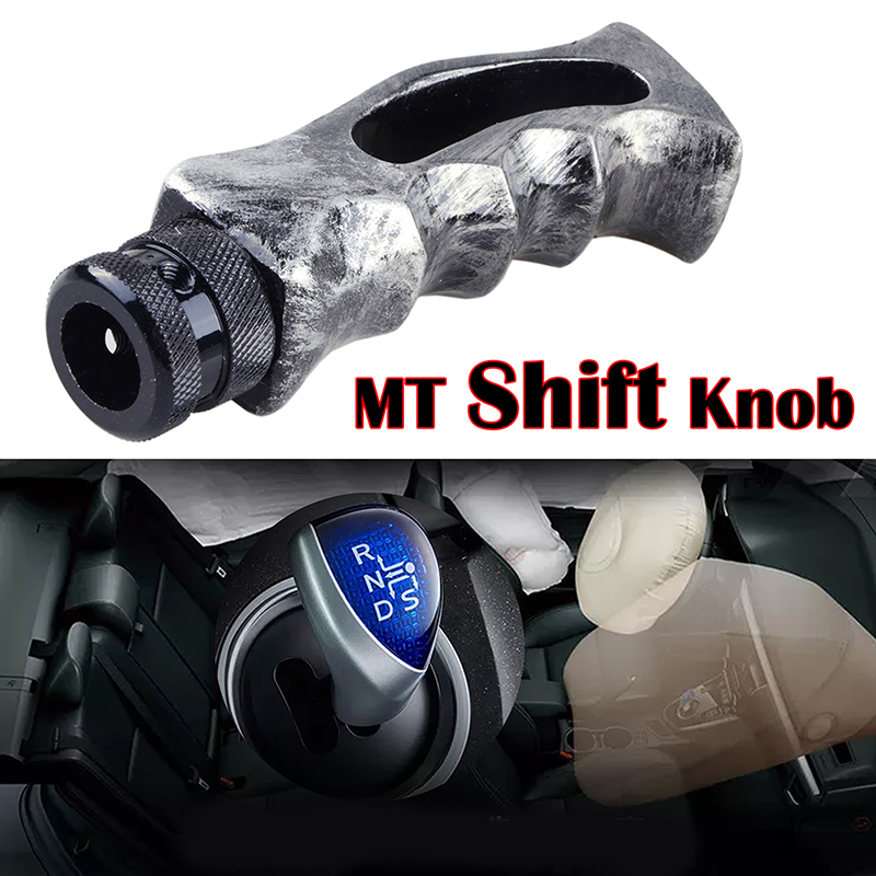 Abfer Stick Shift Knob Car Handle Shifter Gear Knobs Unique Shape Fit Universal Manual Automatic Vehicle Gray