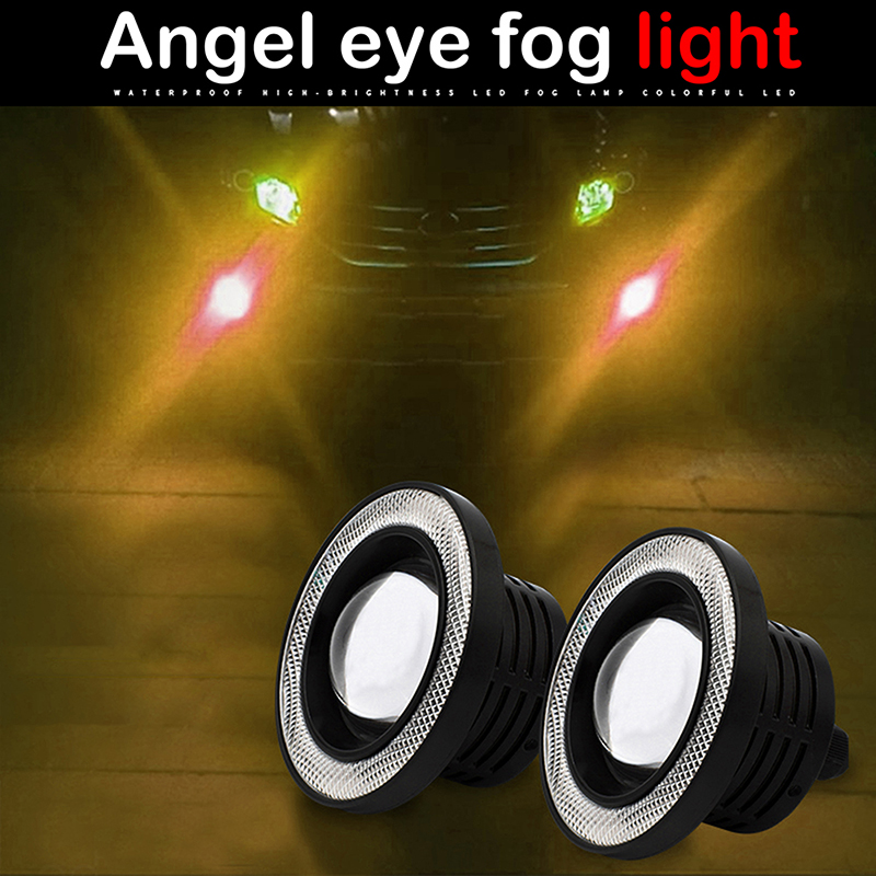 """3.5/"""" Red Projector LED Fog Daytime DRL Light COB Halo Angel Eyes FIT Chevy Tahoe"""