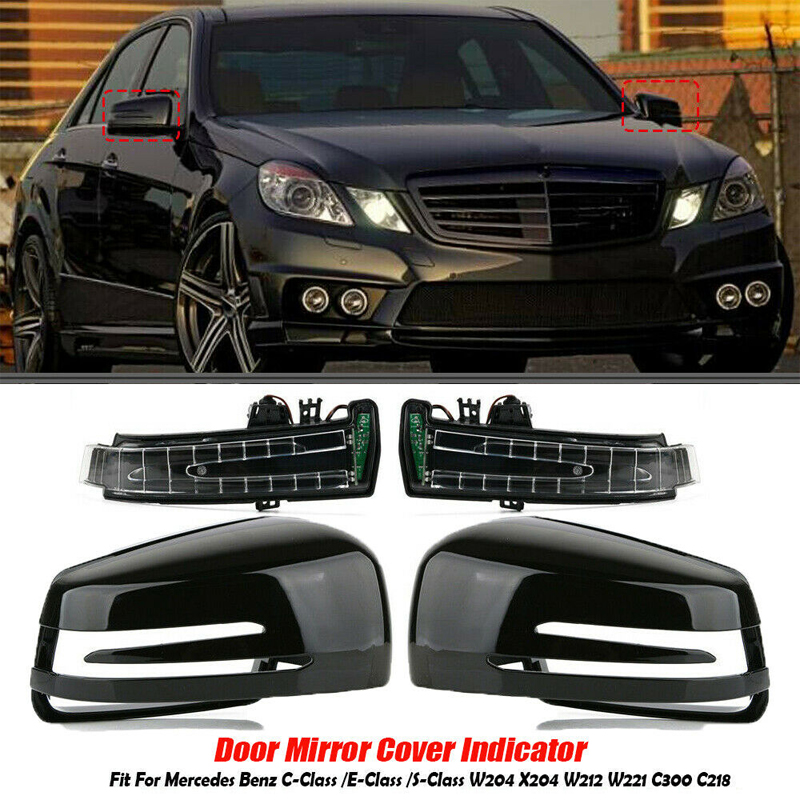 Right Heated Door Mirror Glass Cover For Mercedes-Benz W212 W204 W221 Light